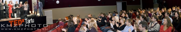 The speakers and the audience at TEDxTartu