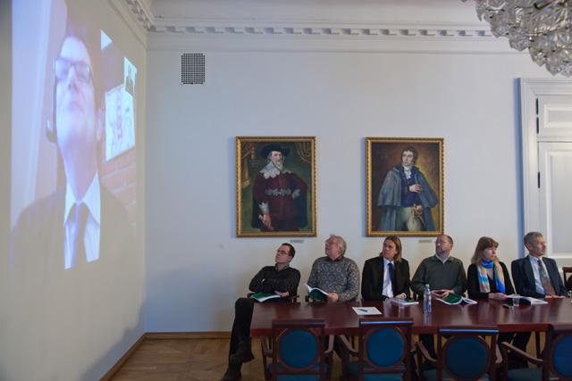 Jaan Pärn defended his geology doctorate over Skype