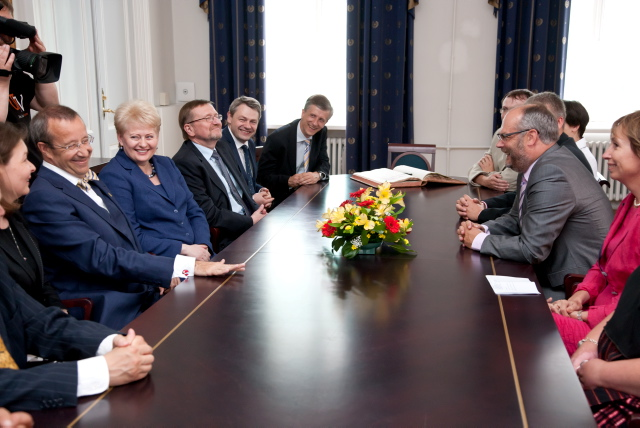 Presidents of Lithuania and Estonia at the University of Tartu