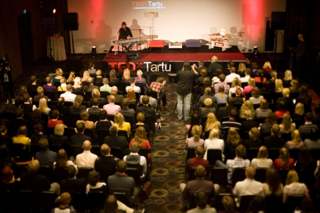 TEDxTartu 2011: audience and the stage