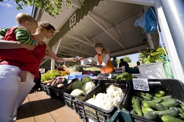 At the farmers' market in Tallinn