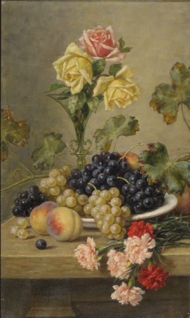 Hirv-still-life with grapes