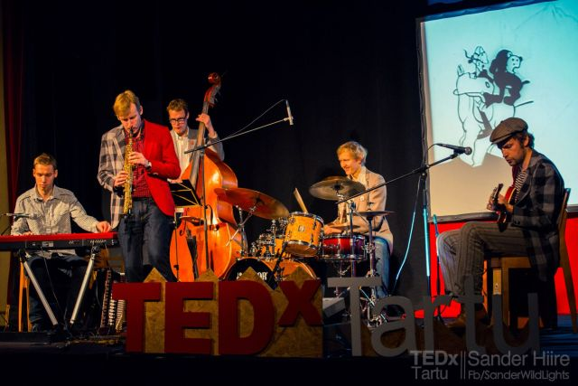 "The band ""Kriminaalne Elevant"" on TEDxTartu stage"