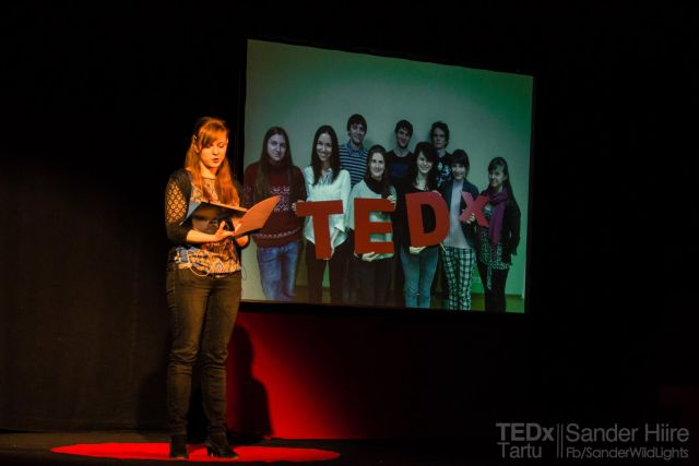 Madli Uutmaa thanks TEDxTartu team