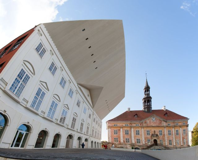 University of Tartu Narva college and Narva Town Hall