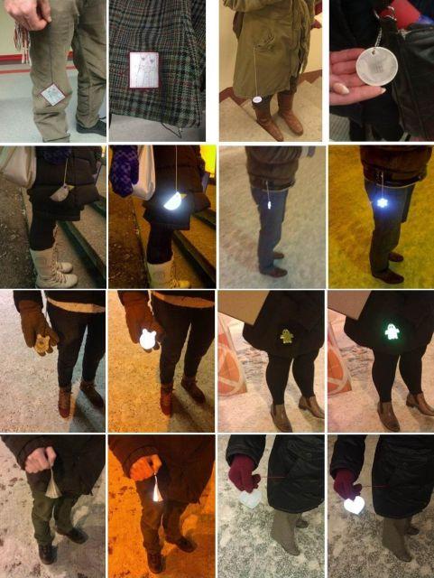 People wearing reflex reflectors in Estonia.