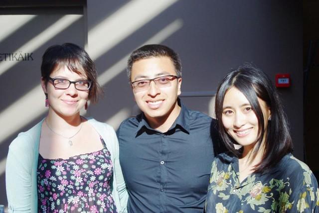 Marina Pukeliene with the coursemates