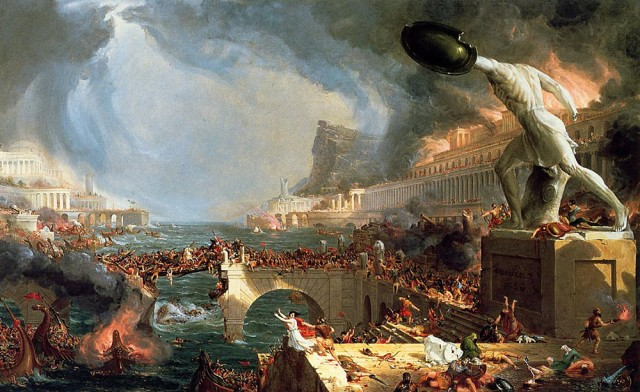 Cole Thomas. The Course of Empire Destruction. 1836