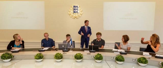 Kazimierz Poplawski with PM Rõivas