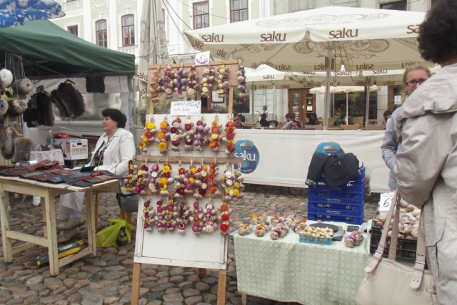 At the fall market in Tartu