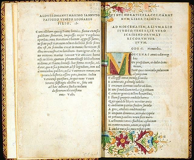 Aldus Manutius. Horace.