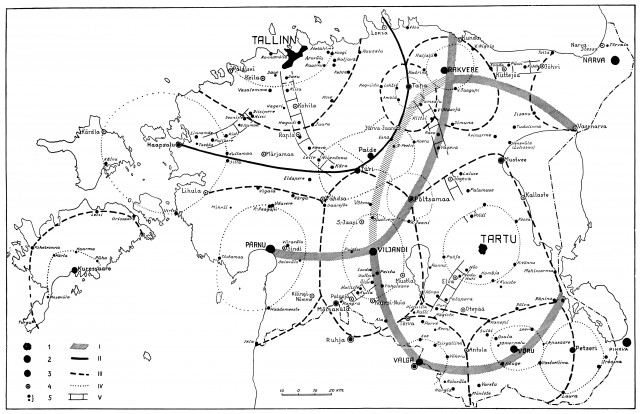 Influence zones in Estonia in 1930-ies