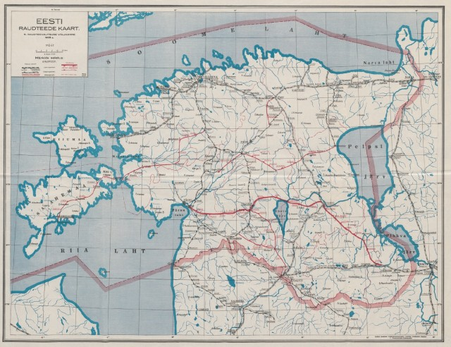 Railway network in Estonia in 1923