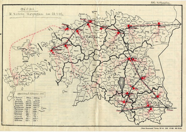 Deportation plan of 20,000 Estonians to Siberia in 1949