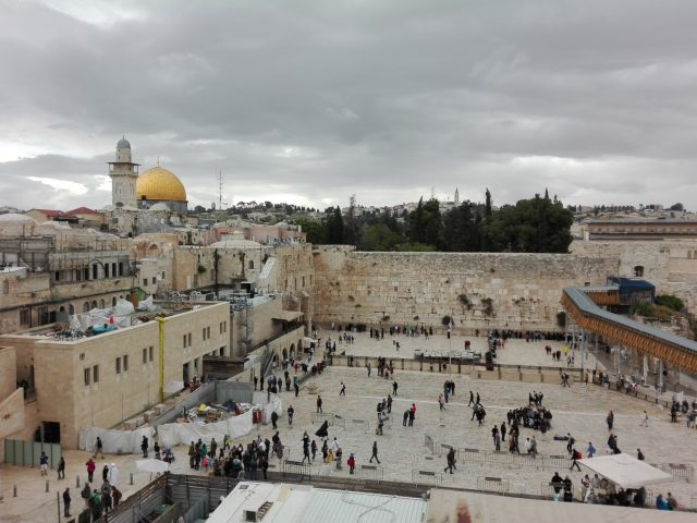 The Dome of the Rock and Western Wall, Jerusalem