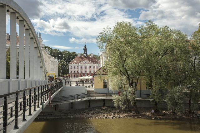 The Arch Bridge and the Town Hall Square in Tartu