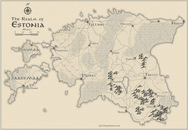 Map: Lord of The Rings style Estonia