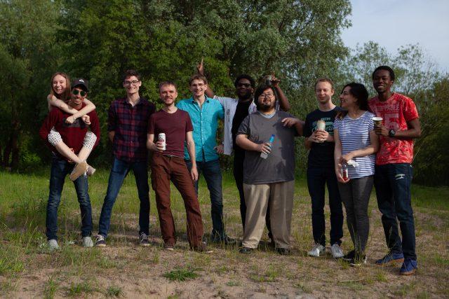 Ivan with groupmates in Tartu