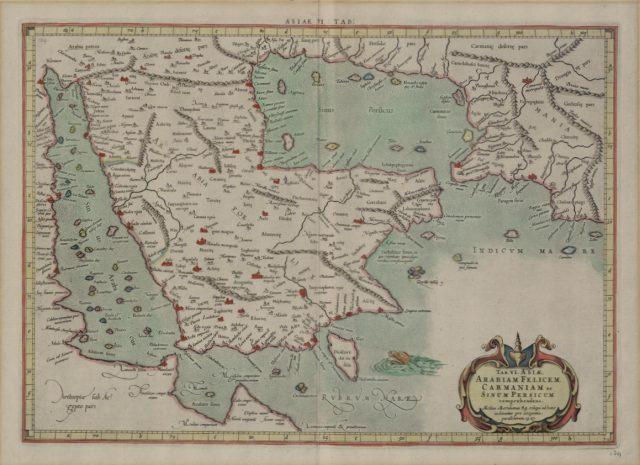 The map of the Arabian Peninsula