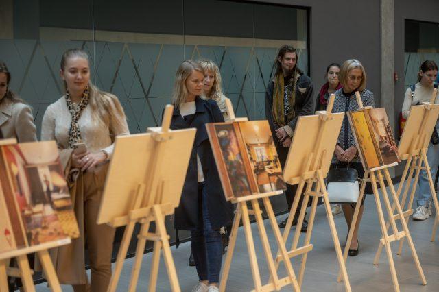 Photo exhibition at the University of Tartu Delta Centre.